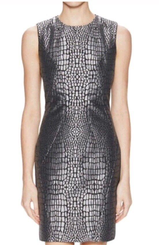 Diane Von Von Von Furstenberg Womens Pentra  Alligator Jaquard Dress Sz 10 DVF  445 NEW cce556