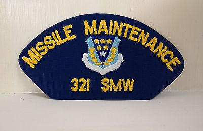 COLOR ON BLUE TWILL USAF MASTER MISSILE OPS BADGE