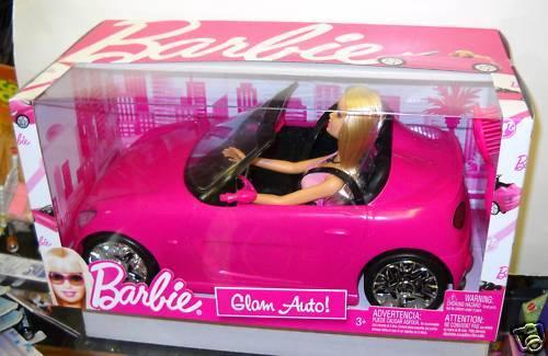 Nunca quitado de la Caja Mattel Muñeca Barbie Glam Auto Car & Giftset