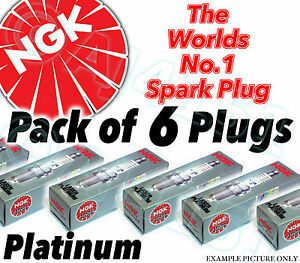 6x-NUOVO-NGK-PLATINUM-CANDELE-parte-no-pzfr6h-STOCK-NO-7696-6PK-sparkplugs