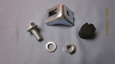 1955-56 chevy clutch pedal rebound bracket and stoper