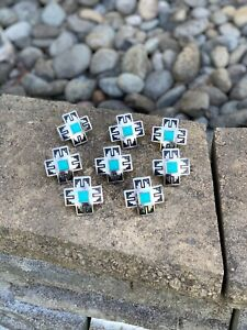 Wild-Rag-Slide-Southwestern-Cross-With-Silver-And-Turquoise-1