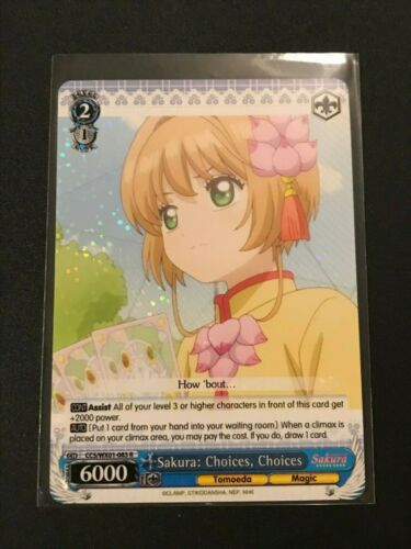 Choices CH CCS//WX01-083 R Choices Weiss Schwarz Sakura Cardcaptor Sakura