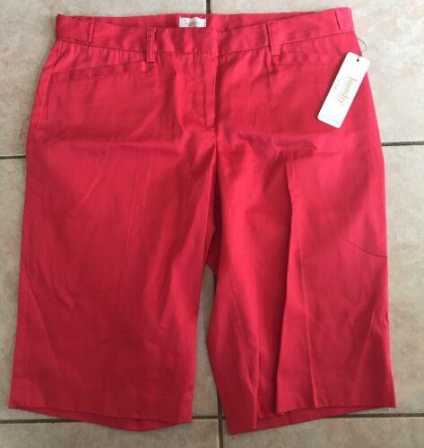 Nwt Shelli Designer Long Shorts Donna By Laundry Segal Size Bermuda 4 Geranium 6x5wPpOq