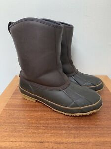Vintage-Orvis-Leather-Mid-Duck-Boots-Thinsulate-Lined-Men-039-s-7-Women-039-s-9-Pull-On
