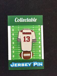 Arizona-Cardinals-Kurt-Warner-jersey-lapel-pin-Classic-Collectable-Hall-of-Famer