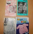 4 VTG Knitting Pattern booklets Australian British '50's-'60's Baby Children