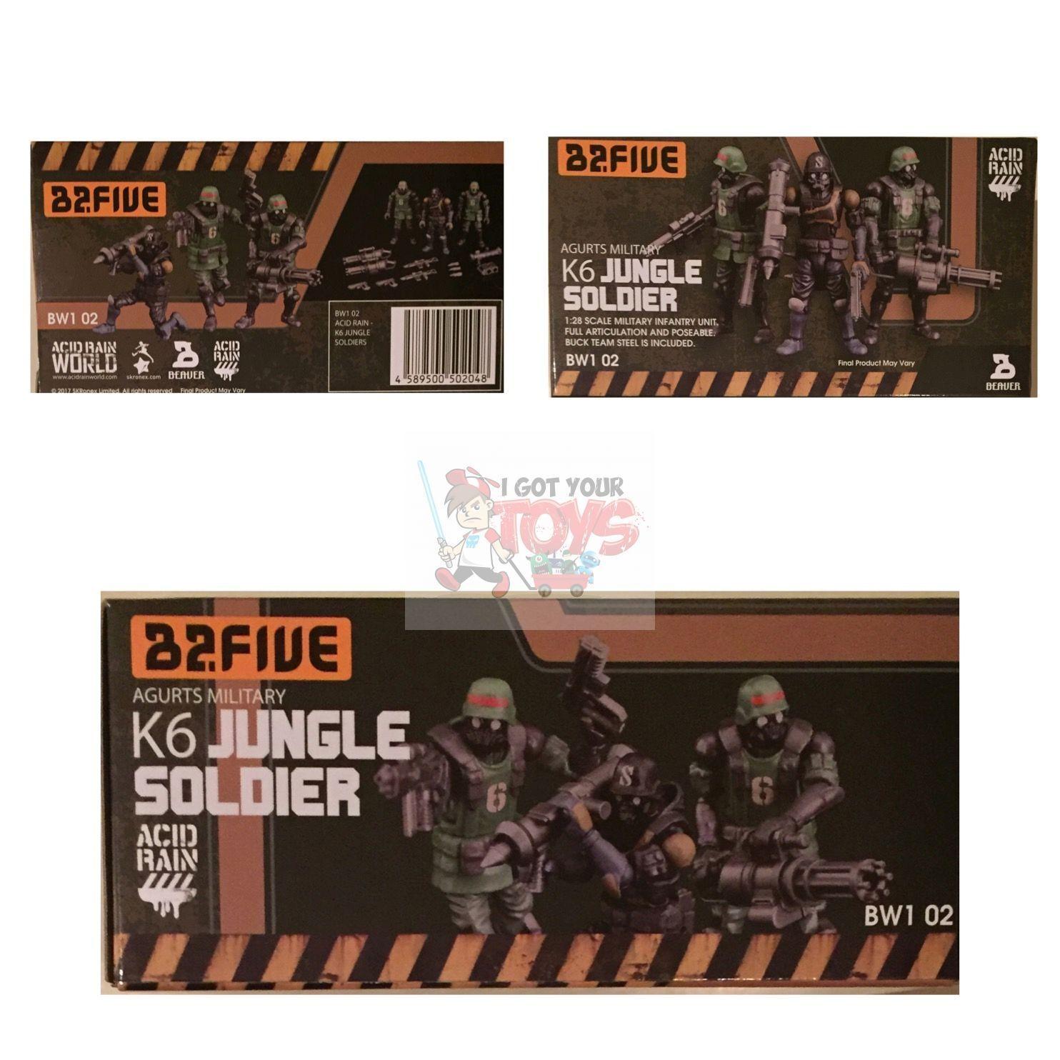 K6 JUNGLE SOLDIER SET (AGURTS MILITARY) Ori Toy ACID RAIN 2.5  Inch FIGURES 1 28