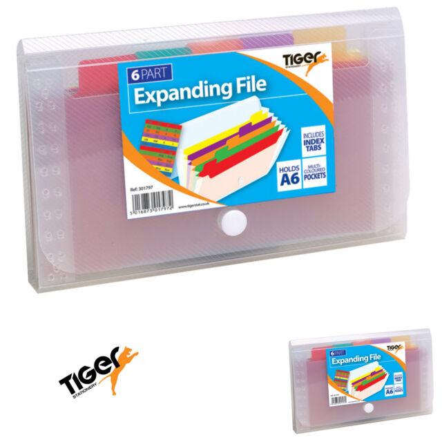 A4 Expanding File 13 Parts Folder Multi Coloured Pockets Stud Wallet File Case