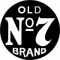 Sticker Jack Daniel's Old N°7 Couleur Au Choix Jack03
