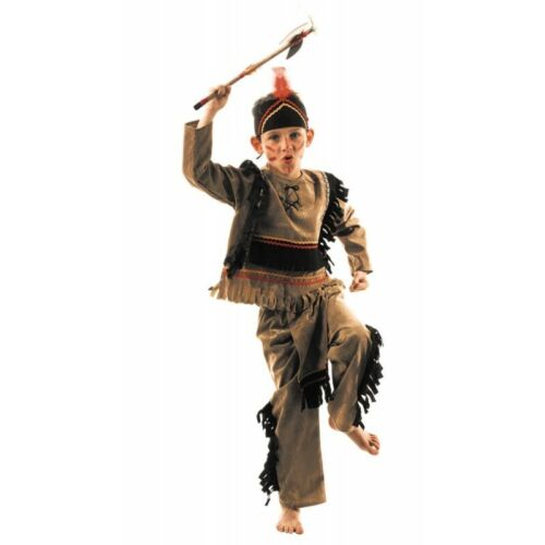Boys Red Indian Sioux Costume Fancy Dress Age 4-6  World Book Day