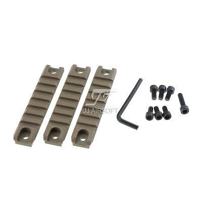 JJ Airsoft G36C CNC Machined Picatinny Rail Set (3PCS) G36 Rail System (TAN)