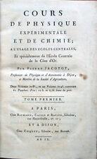 1800-1801 JACOTOT, COURS DE PHYSIQUE EXPERIMENTALE ET DE CHIMIE, FISICA CHIMICA