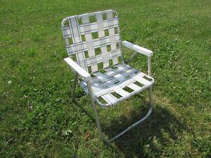 Tremendous Details About Sunbeam Aluminum Folding Webbed Lawn Chair Plastic Arms White Machost Co Dining Chair Design Ideas Machostcouk