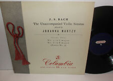 33CX 1288 JS Bach Unaccompanied Violin Sonatas Johanna Martzy B/G