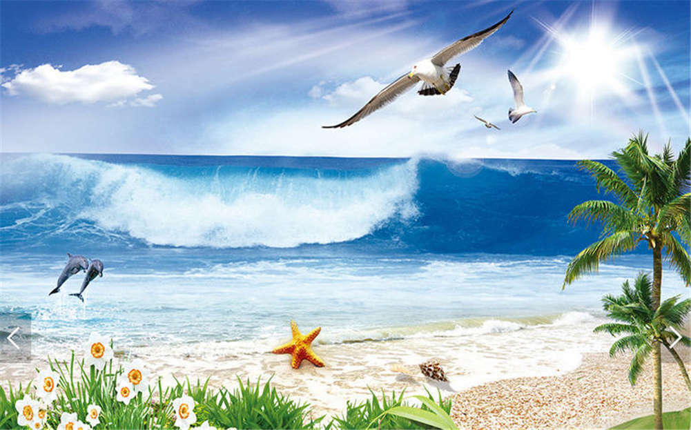 Funny Bird Heaven 3D Full Wall Mural Photo Wallpaper Printing Home Kids Decor
