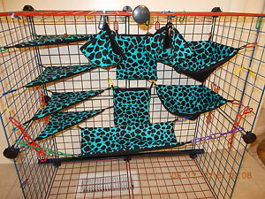 FROZEN BLUE LEOPARD Sugar Glider 11 pc cage set