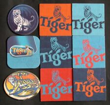 Lot 9 sous bocks BIERE Coaster Mat new TIGER BEER  Asia Brewerie SINGAPORE TIGRE