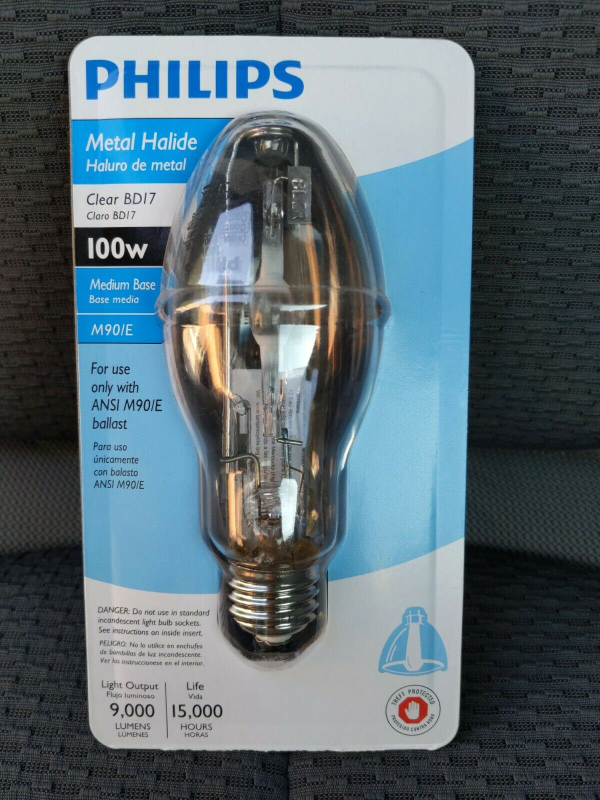 Philips Metal Halide Hid Light Bulb 100w Medium Base Clear Bd17 M90 E For Sale Online