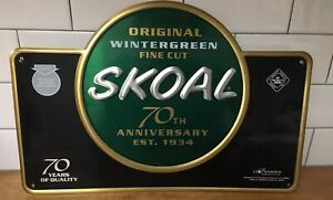 Details about NEW SKOAL WINTERGREEN SMOKELESS TOBACCO 70TH ANNIVERSARY  METAL SIGN 2003