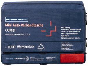 Verbandskästen Weste Gelb Erste Hilfe- & Notfallausrüstungen Verbandtasche Auto Mini 3 In 1 Inhalt Nach Din 13164 Blau 62220 Inkl