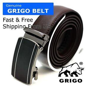 Comfort-Slide-Click-Leather-Automatic-Belt-Men-039-s-Buckle-Lock-Dress-Jeans-New