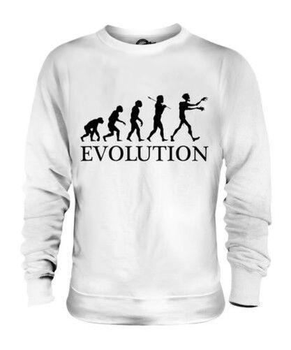 Zombie Evoluzione Umana Unisex Maglione  Herren Damenschuhe Idea Regalo Damenschuhe Halloween
