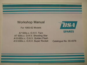 BSA-A10-A7-INSTRUCTION-MANUAL-OWNERS-MANUAL-WORKSHOP-MANUL-00-4078