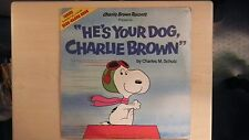 HE'S YOUR DOG, CHARLIE BROWN LP 1978 + Read-Along Book