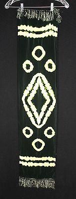 Süß GehäRtet Vintage 591ms-594ms Batikdruck Style Seidig Viskose Lang Fransen Schal 14.6m X Elegant Im Stil