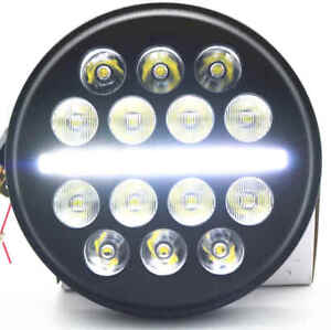 5-3-4-034-5-75inch-LED-Projector-Headlight-Hi-Lo-for-Harley-Motorcycles-Dyna-Round