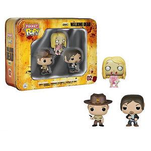 Walking Dead Set of 3 mini Rick IN-STOCK! /& TB Walker Daryl Funko Pocket Pop