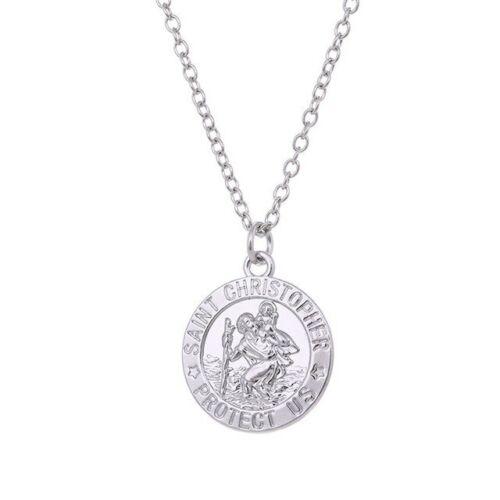 """2019 Hot catholique /""""Saint Christopher nous protéger/"""" gravé Médaille Collier Pendentif"""