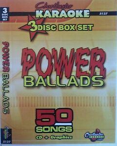Details about CHARTBUSTER KARAOKE CDG POWER BALLADS (5137) 3 DISC BOX SET  50 TRACKS NEW