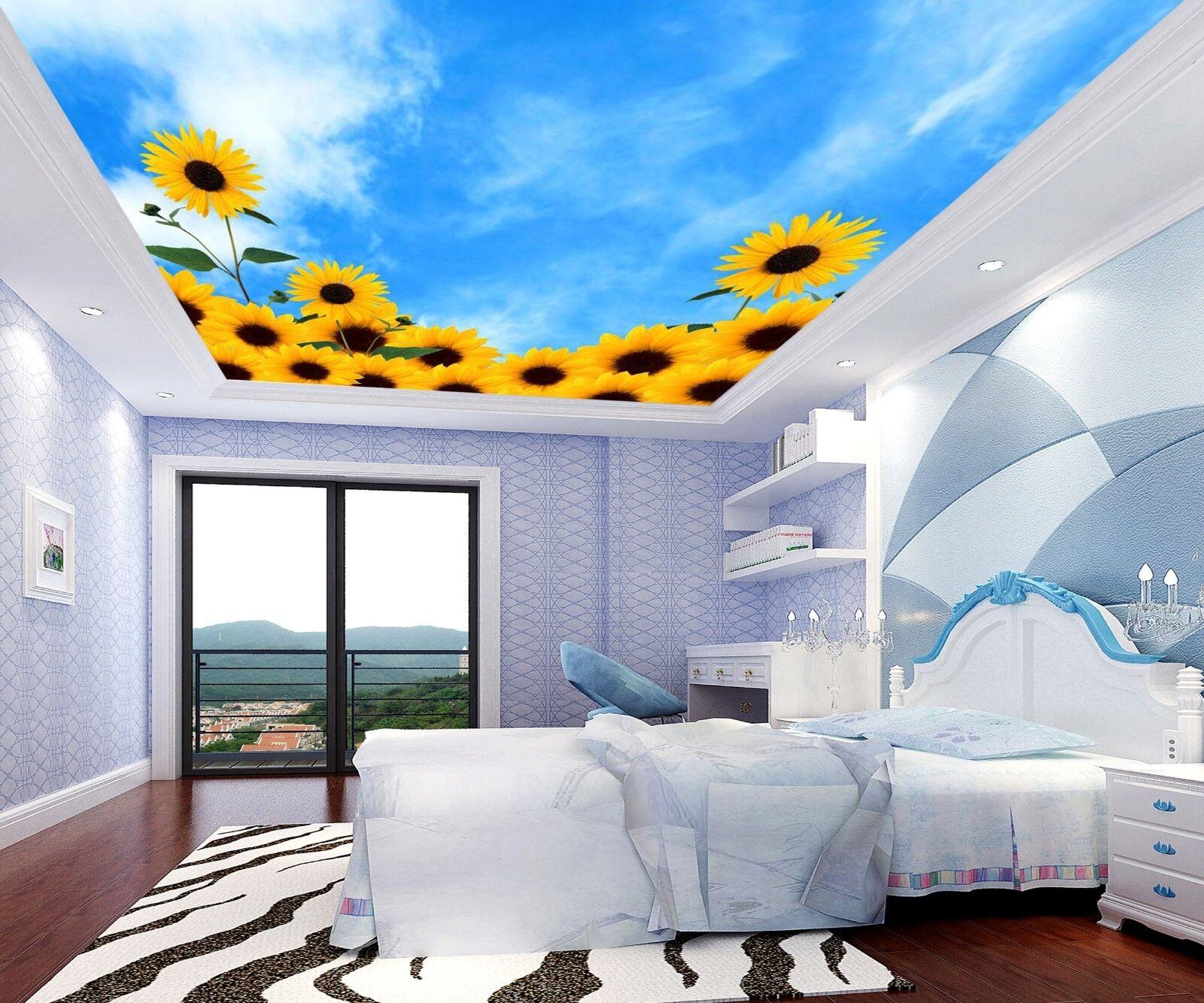 3D SonnenBlaume Sky 74 Fototapeten Wandbild Fototapete ...