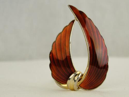 """Vintage Albert Scharning Normay Fully Hallmarked Sterling Silver and Red Enamel"