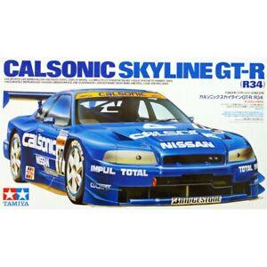 TAMIYA-24219-Calsonic-Nissan-Skyline-GTR-R34-1-24-Plastic-Model-Kit