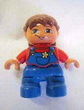 """LEGO DUPLO Brunette BABY GIRL INFANT TODDLER 1.75"""" FIGURE for FAMILY HOME HOUSE"""