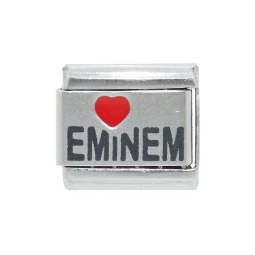 Love Eminem laser Italian Charm fits 9mm classic Italian charm bracelets