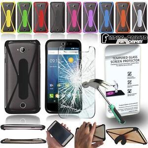 Protection-d-039-ecran-Verre-Trempe-Anti-Chocs-en-Silicone-Support-Case-pour-Acer-Liquid-Telephone