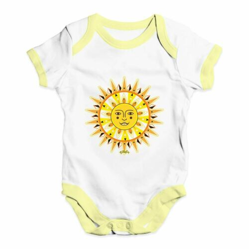 Twisted Envy Ornate Sun Face Baby Unisex Funny Baby Grow Bodysuit