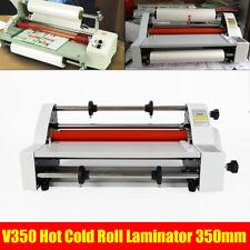 Hot Cold Roll Laminator Laminating Machine Singleampdual Sided V350 13 110v 350mm