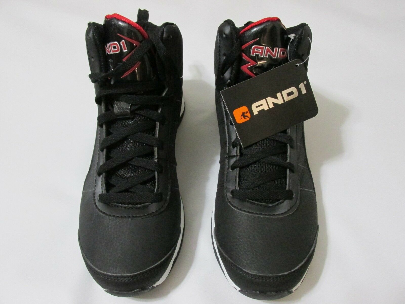 Brand New with Tag AND1 Men's Playoff Basketball Lace Up Athletic Sneakers-Black