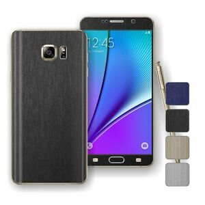 For-SAMSUNG-Galaxy-NOTE-5-3D-BRUSHED-Metal-Wrap-Sticker-Decal-Protector-Skin