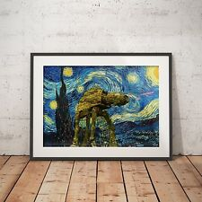 Star Wars Stary Night Van Gogph- A4 Poster - FREE Shipping