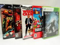 50 Box Protectors Dvd, Wii U, Nintendo Gamecube, Xbox, Ps2 Video Game Cases