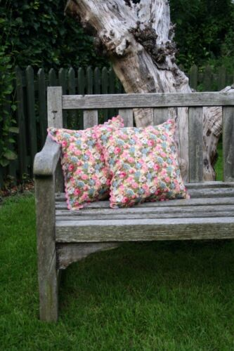 Shabby chic vintage retro floral roses cushion cover 100/% cotton hand made in UK