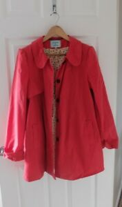 DICKINS-amp-JONES-Red-Jacket-Trench-Coat-Size-16