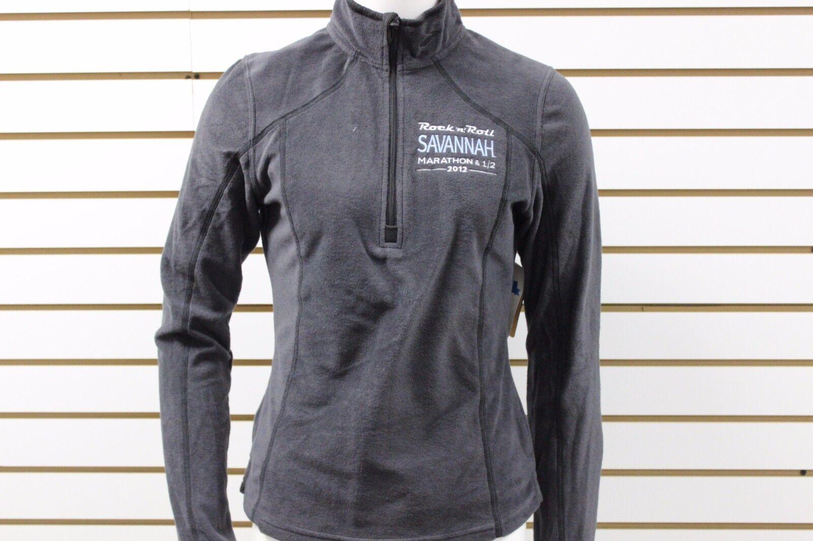 Brooks Woman's Equilibrium Technology RNR Savannah LTD Fleece 1 2 Zip Shadow