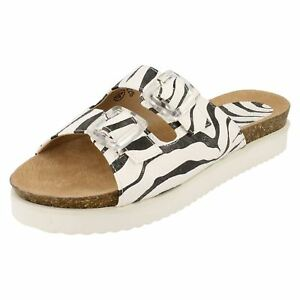 SALE-Ladies-F10322-Zebra-Mule-Buckle-Sandals-by-Down-to-Earth-NOW-5-99